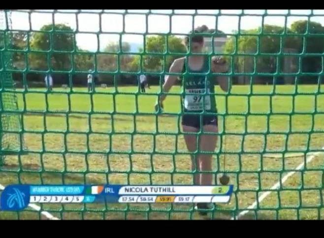 Nicola throws PB  at European Throwing Cup